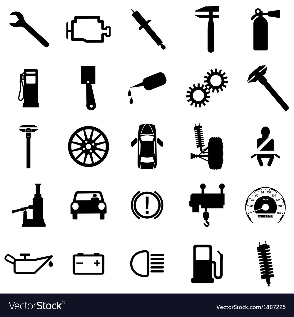Collection flat icons car symbols royalty free vector image collection flat icons car symbols vector image biocorpaavc Gallery