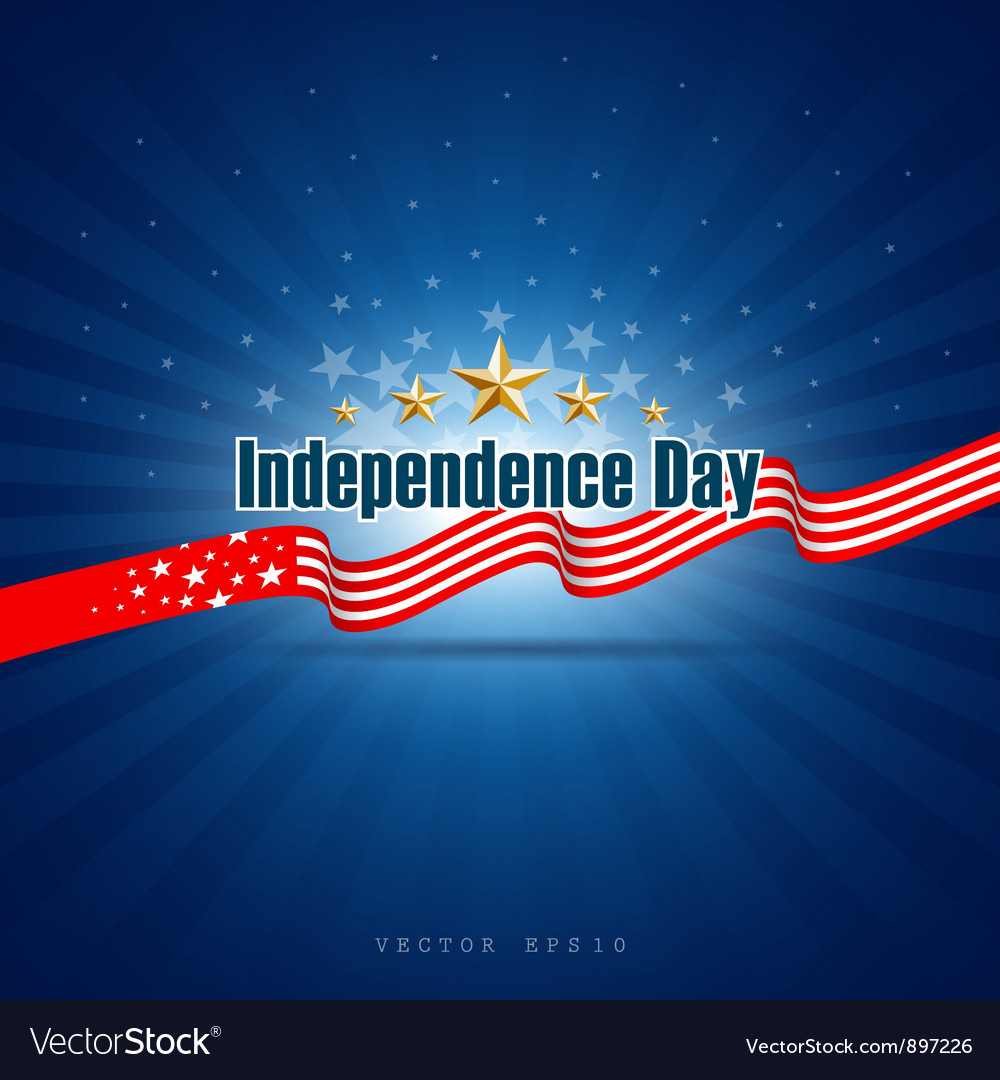 Independence day background design vector image