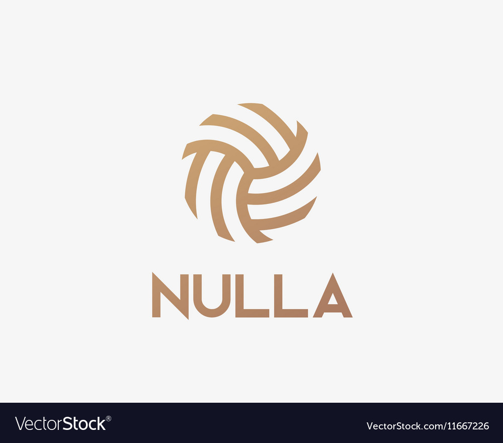 Abstract linear ball logotype Soccer volleyball vector image