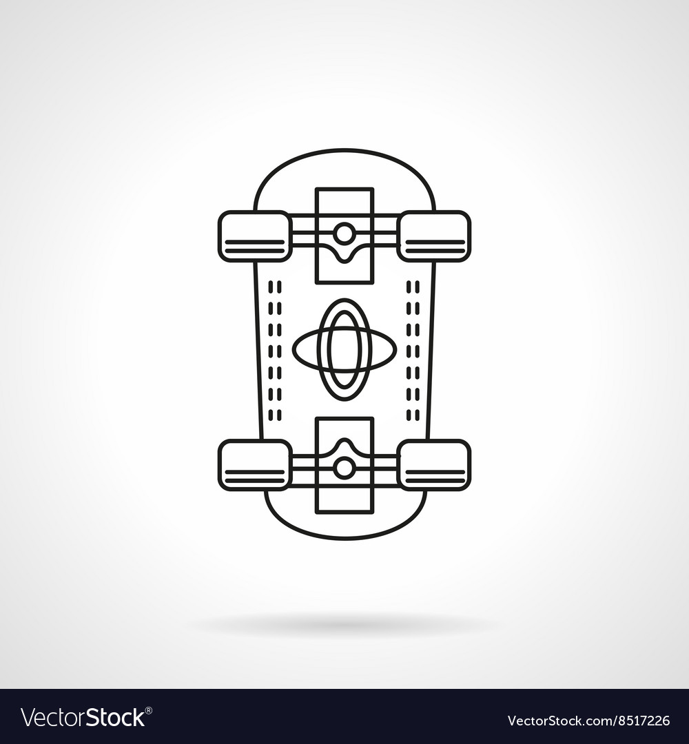 Skateboarding flat line icon vector image