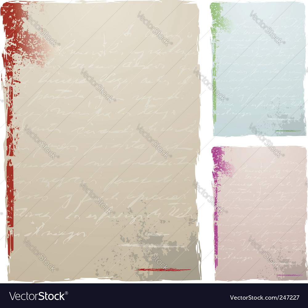 Antique letter background vector image
