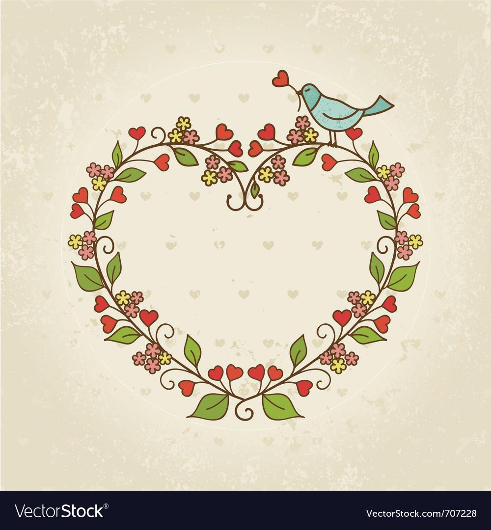 Frame valentine day vector image