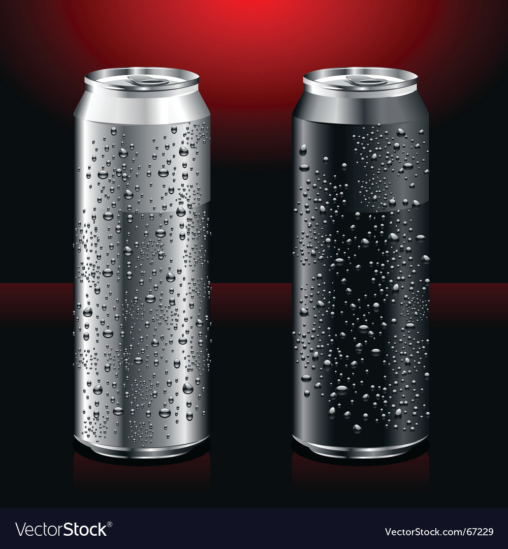 Cans vector image