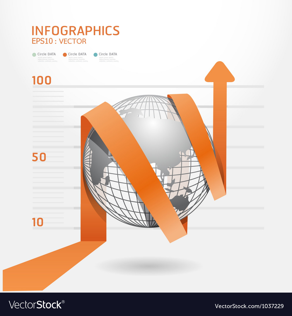 Infographic arrow diagram chart vector image