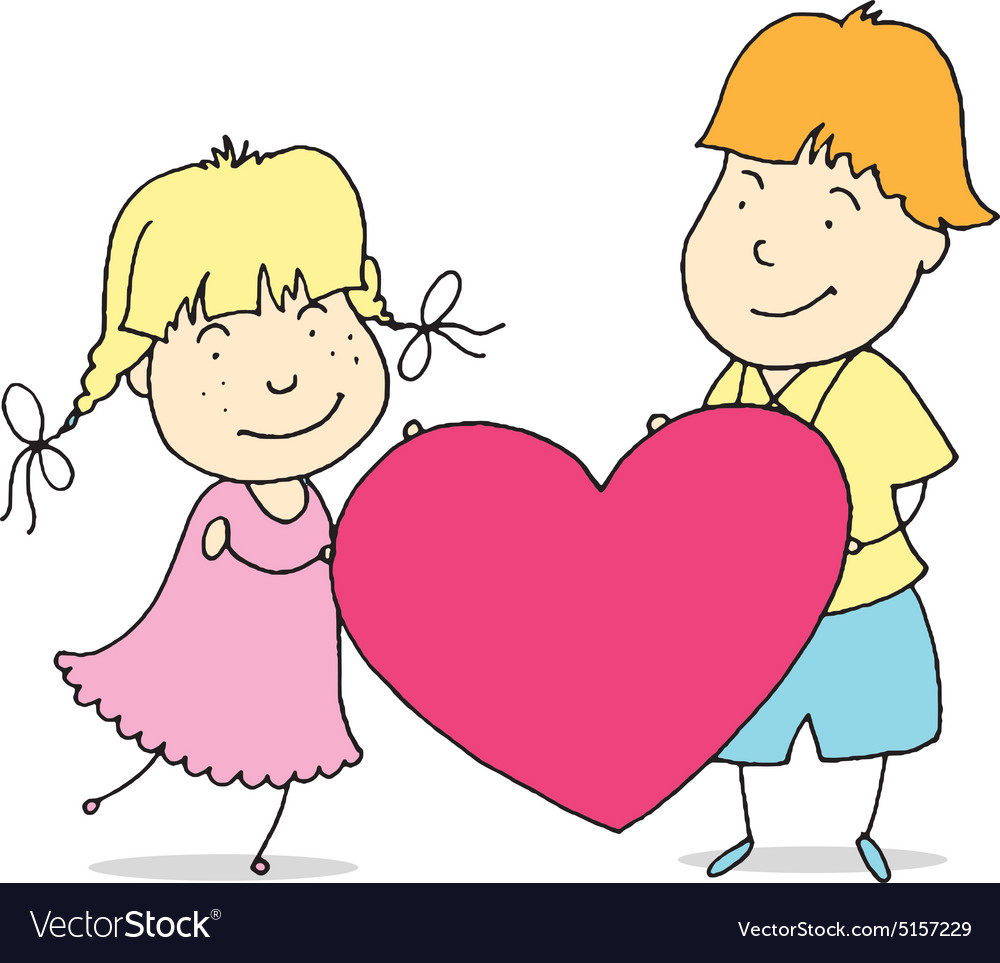 Young couple spends time together vector image