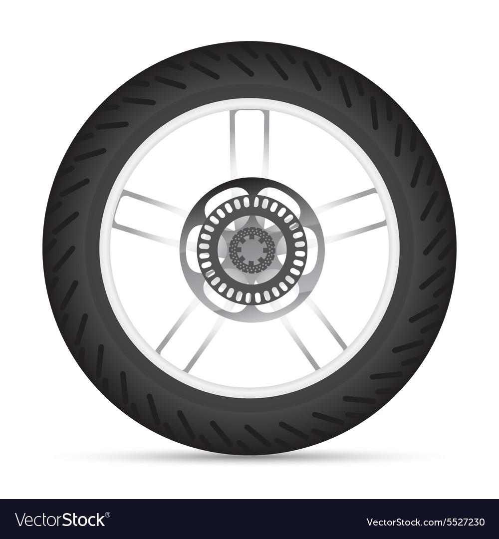 Motorbike wheel vector image