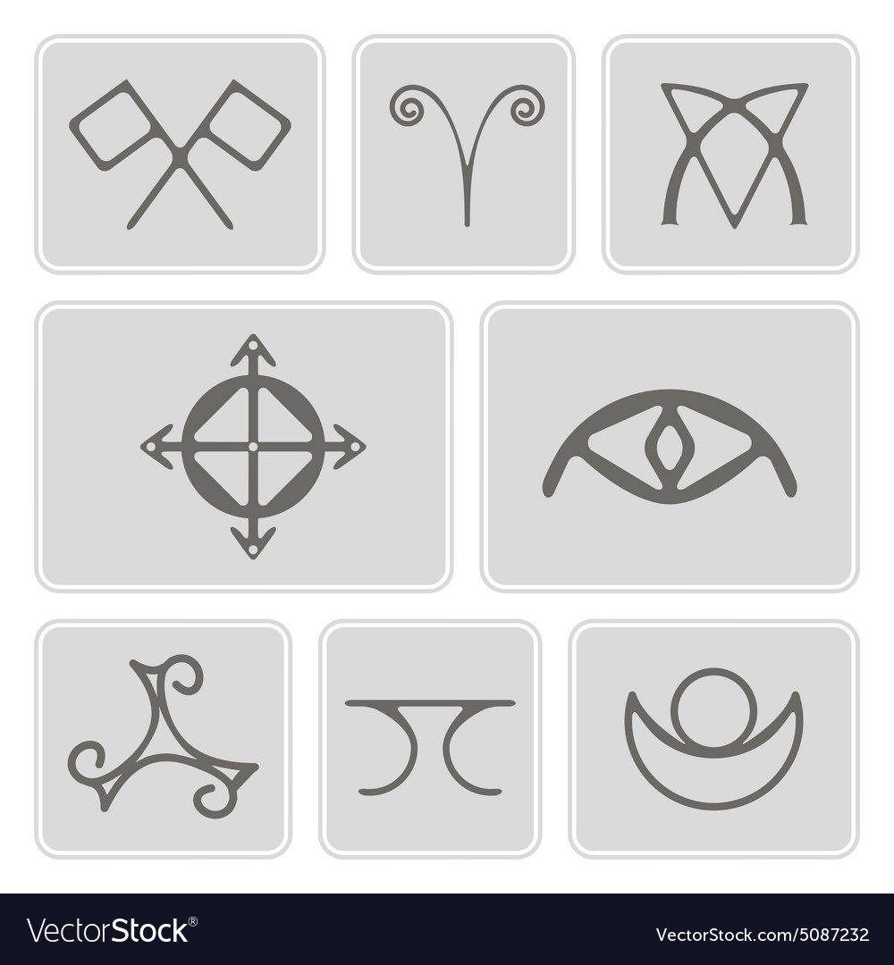 Icons with magical symbols of the elves of fyn vector image biocorpaavc Images