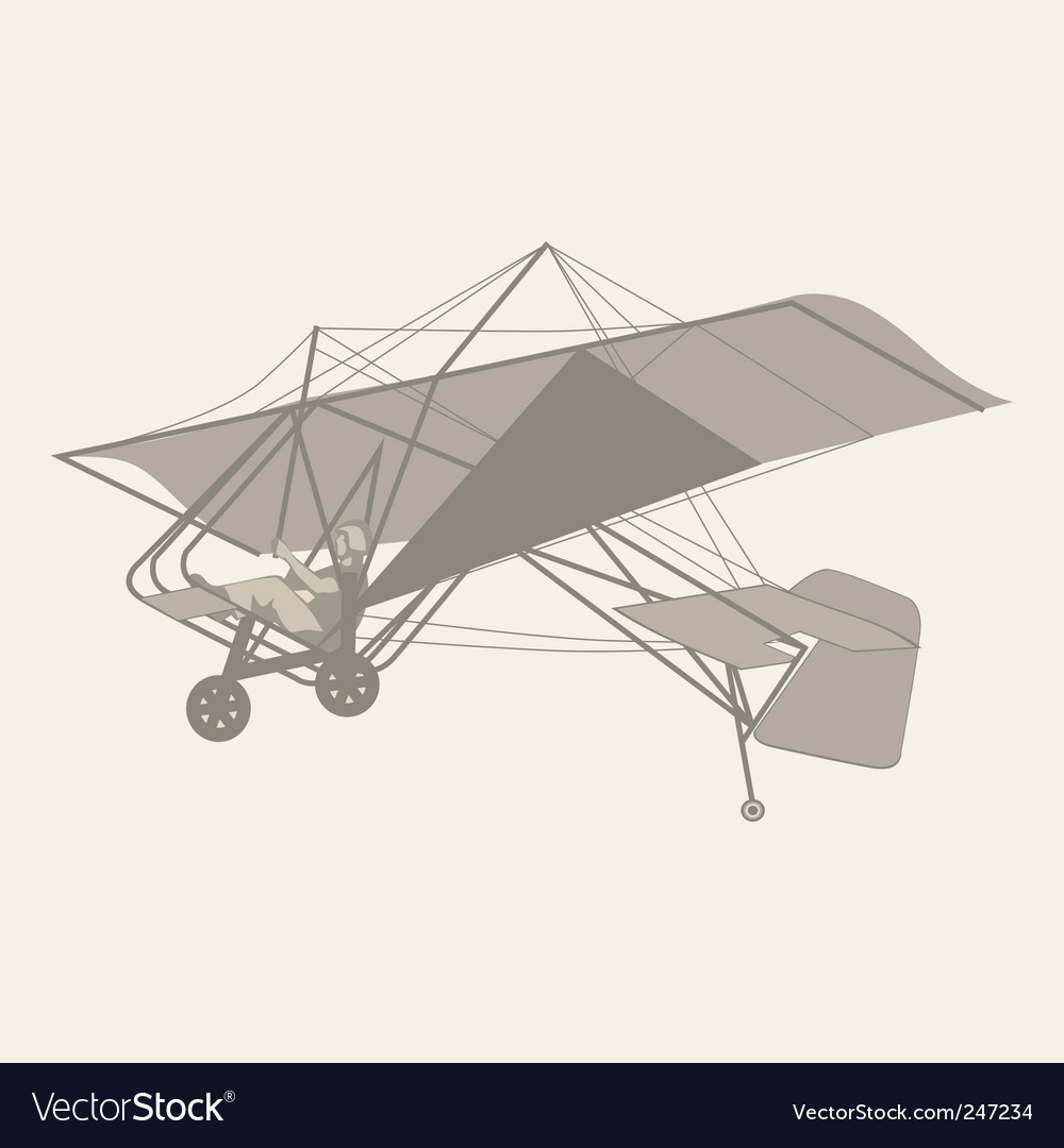 Microlight glider vector image