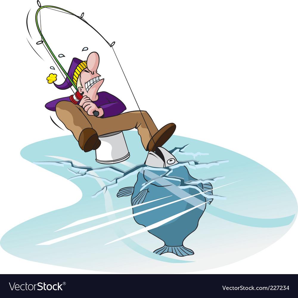 Thin ice vector image