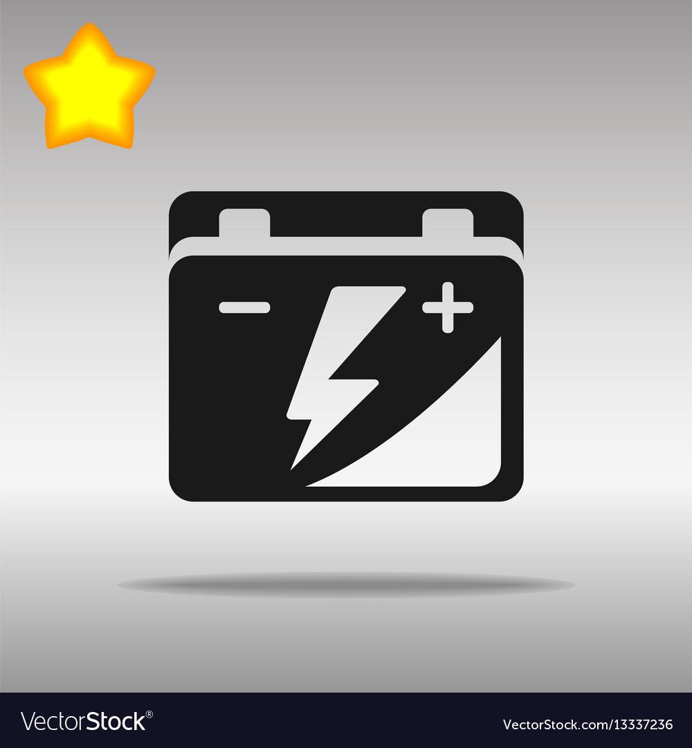 Black car battery icon button logo symbol concept Vector Image for Car Battery Symbol  126eri
