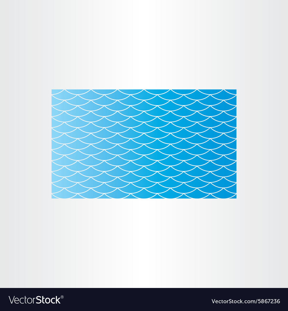 Blue water wave background seamless card vector image