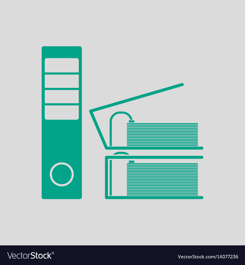 Folders with clip icon vector image