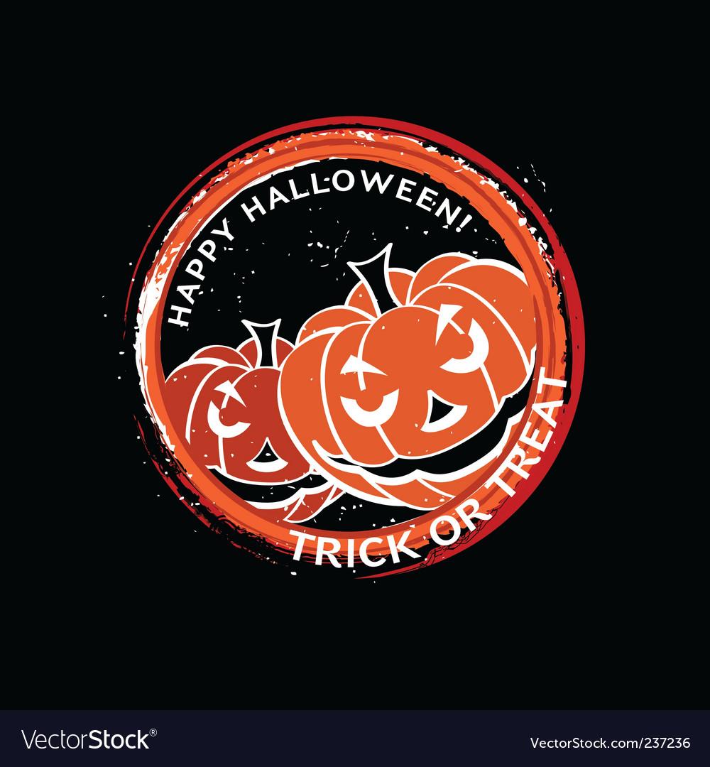 Halloween stamp vector image