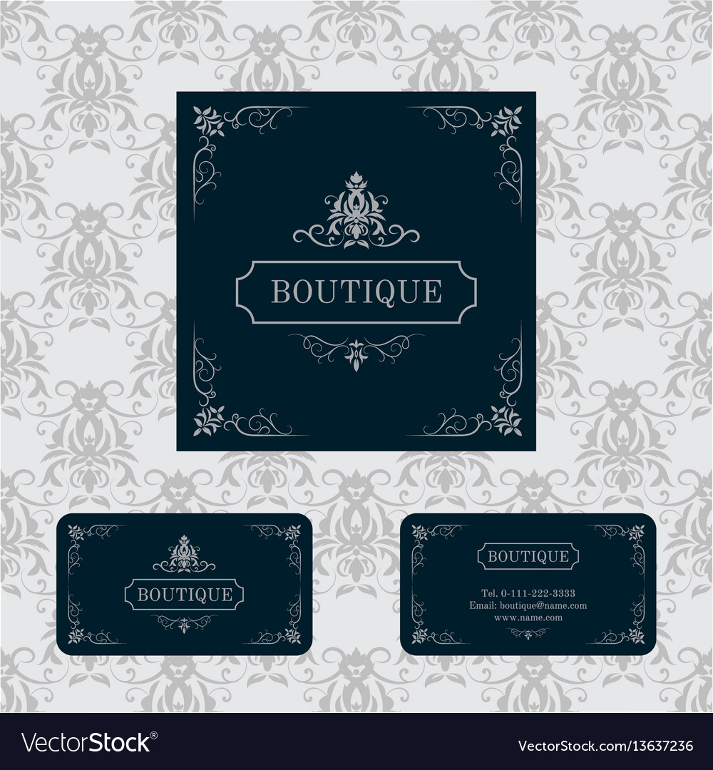 Luxury logo template vector image