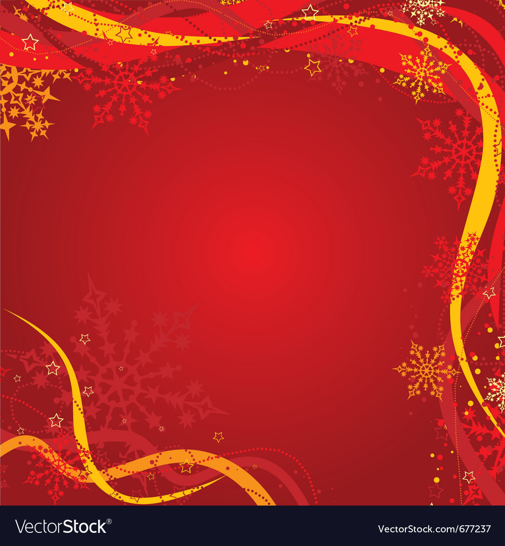 Christmas background with decoration vector image