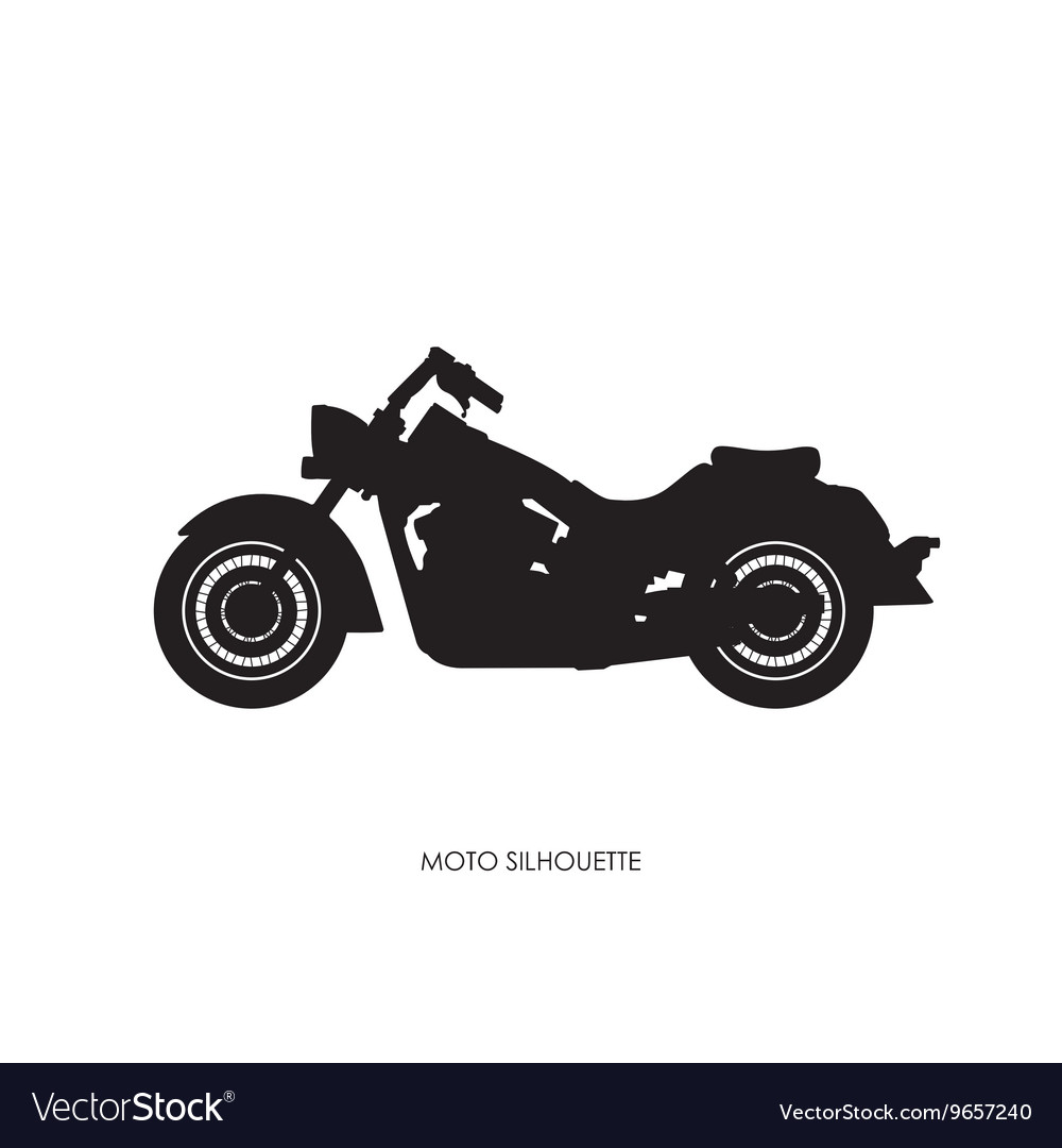 Black silhouette of a heavy motorcycle vector image