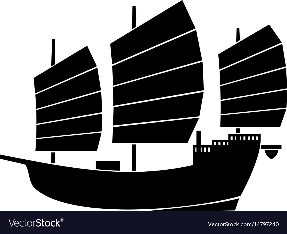Chinese or asian junk vector image