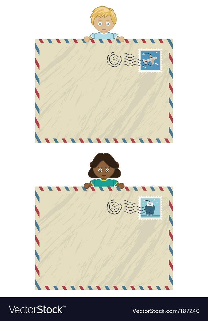 Kids airmail vector image