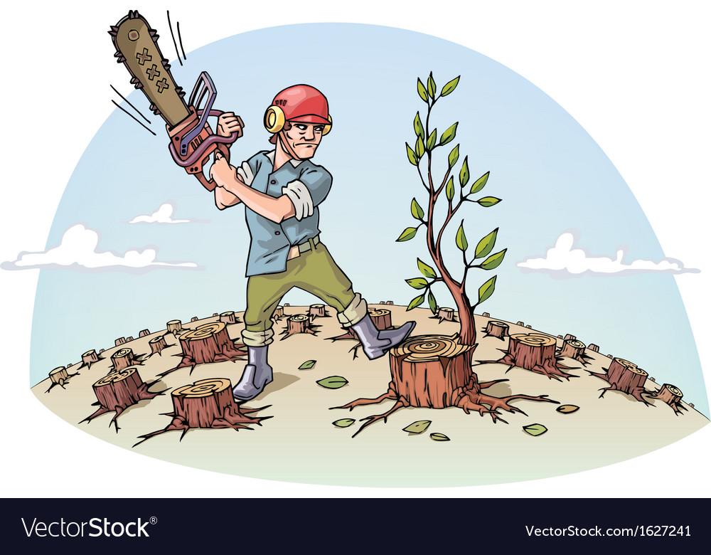 Destructing Forest vector image
