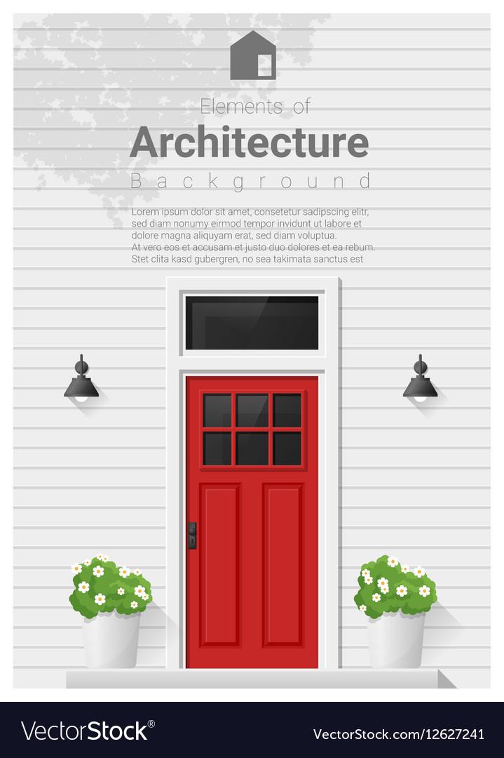 Elements of architecture front door background 4 vector image
