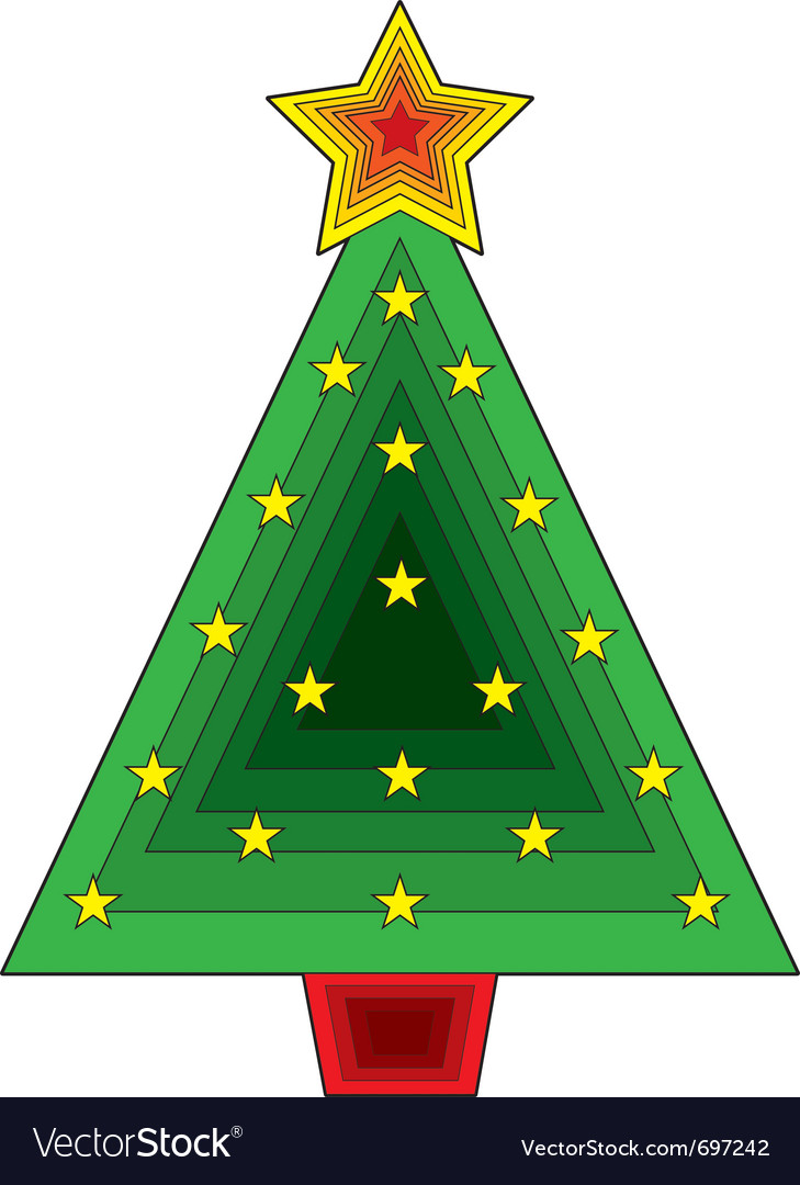 Triangle christmas tree Royalty Free Vector Image