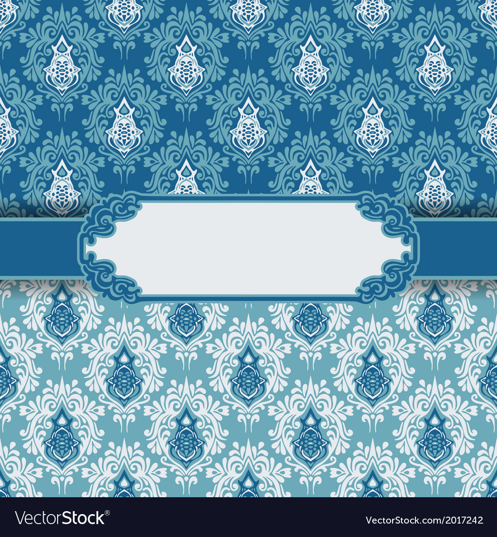 Vintage greeting card frame background vector image
