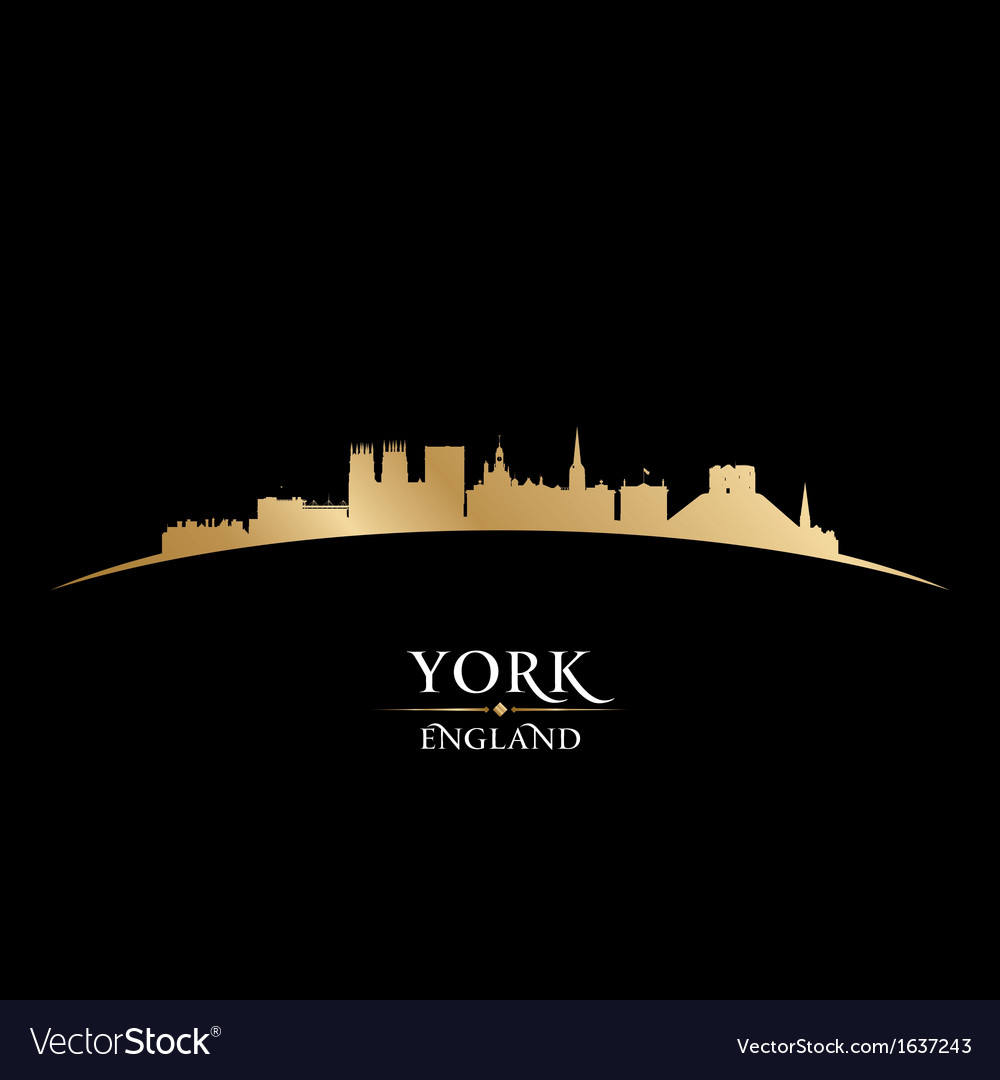 York England city skyline silhouette Vector Image