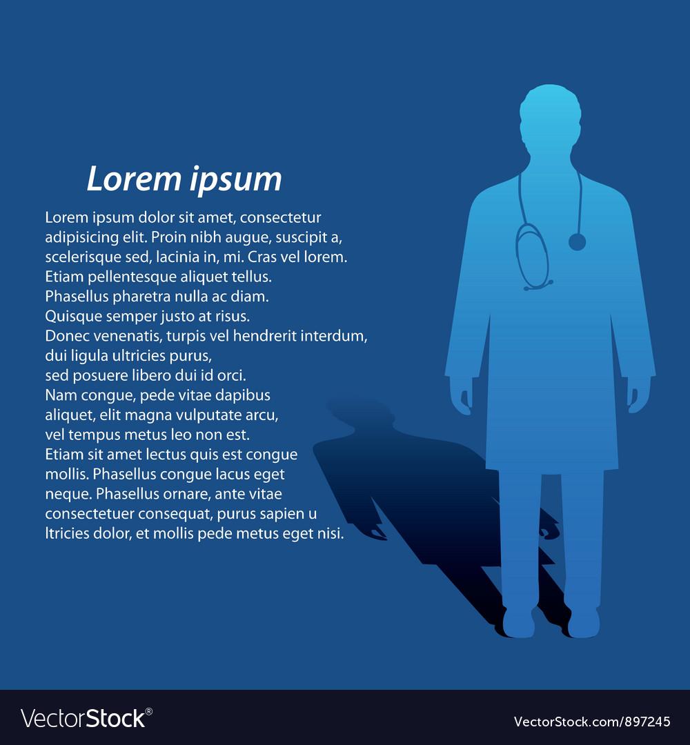 Medical background vector image