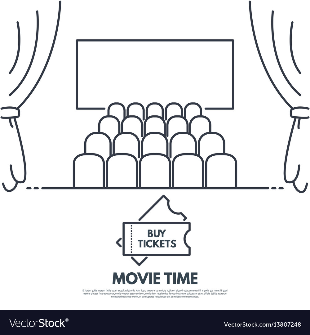 Cinema theatr vector image