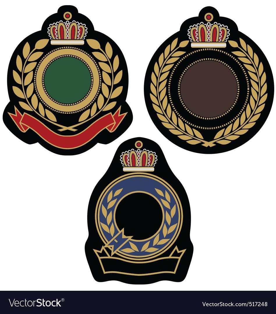 Royal badge emblem vector image