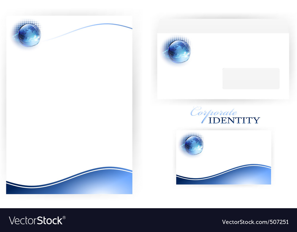 Corporate identity set vector image