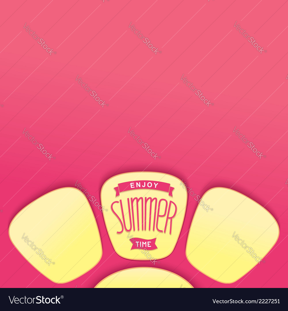Abstract summer design element vector image