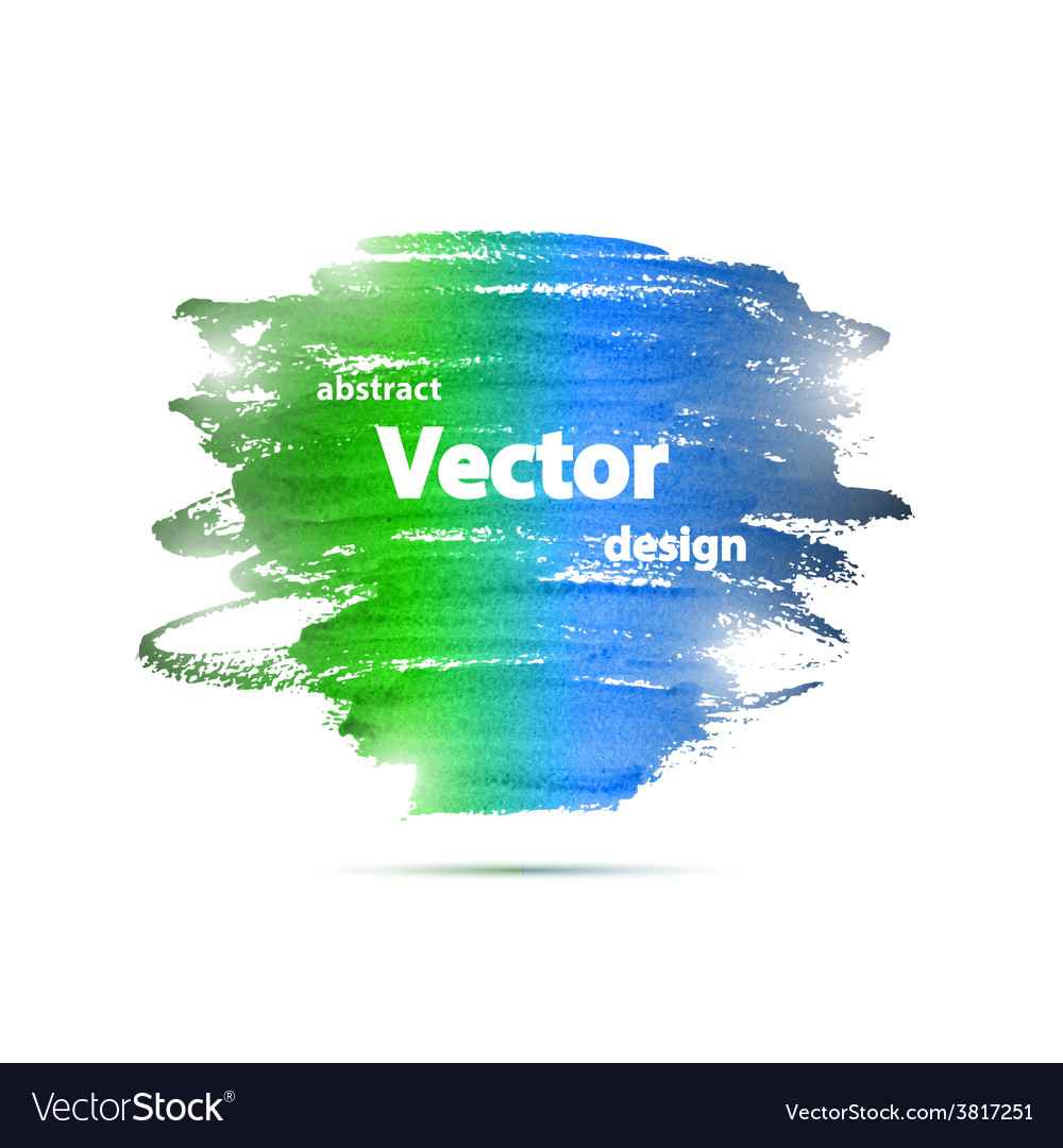 Brochure Watercolor Grunge Design Template vector image