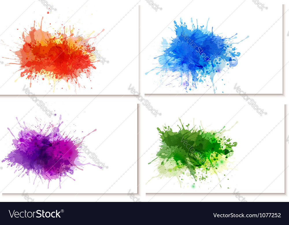 Abstract watercolor banners vector image