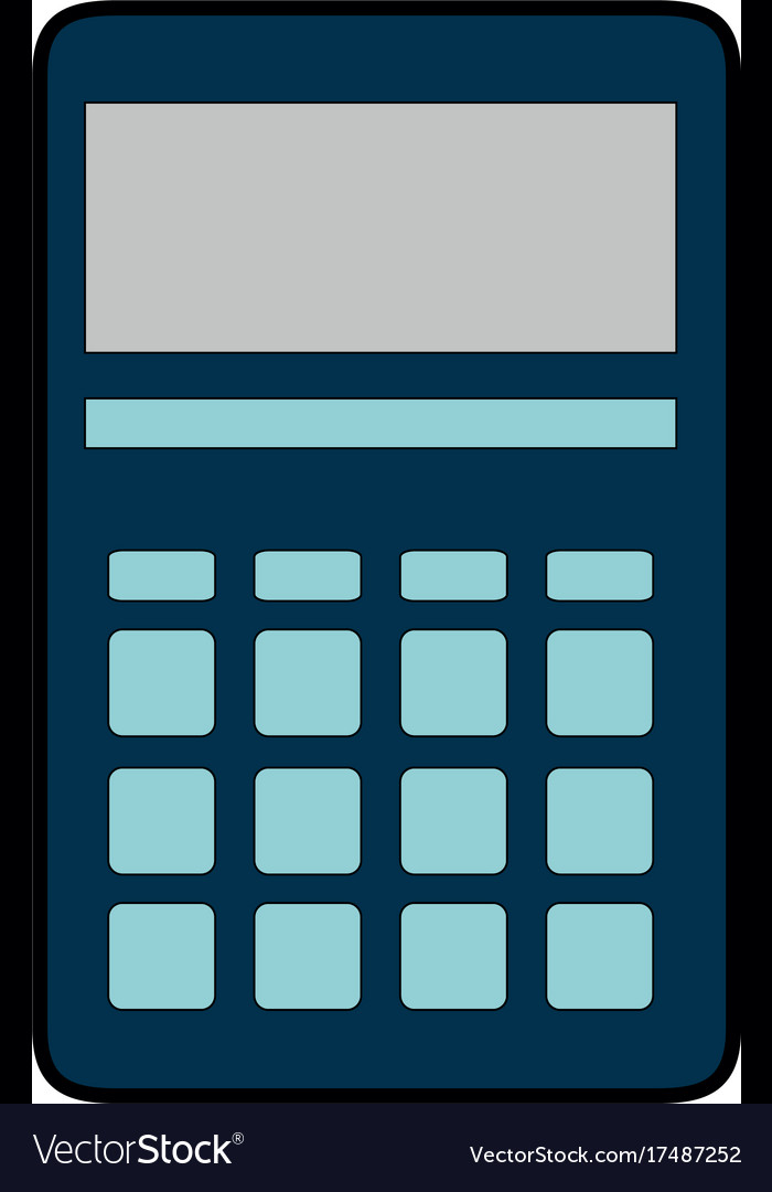 Calculator math isolated icon Royalty Free Vector Image