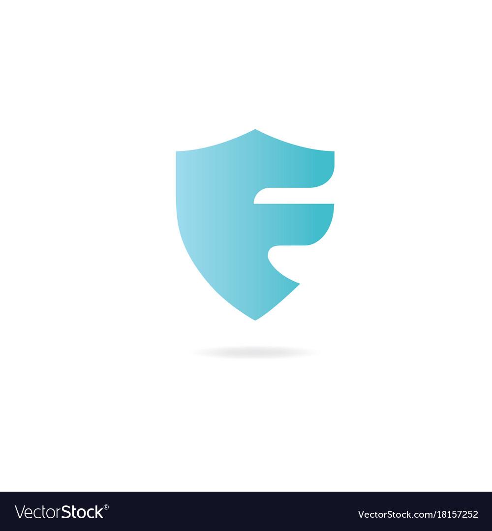 Letter j logo design template elements shield Vector Image