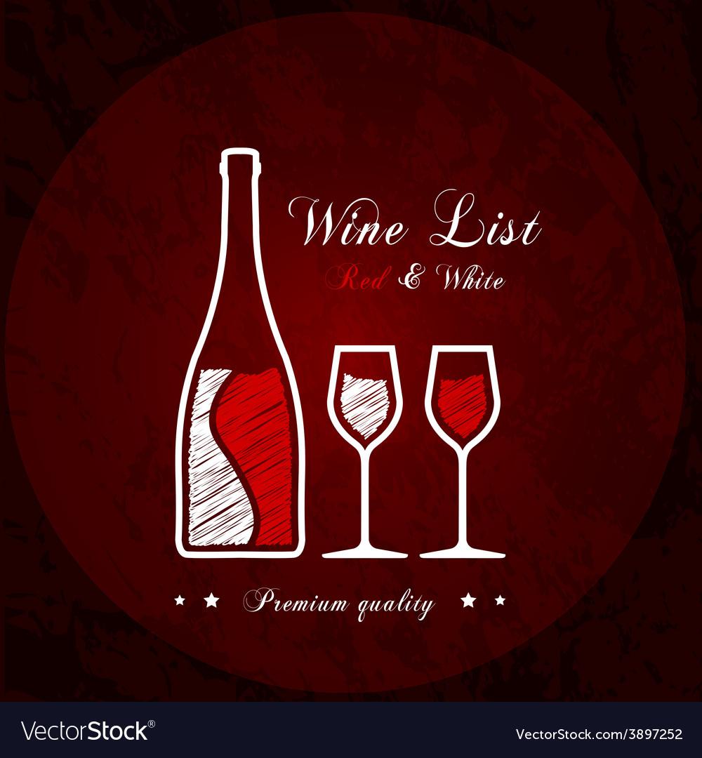 Wine list designs vector image
