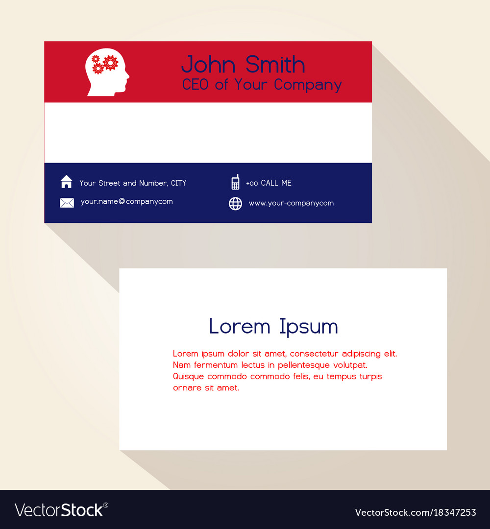 Nederland flag color business card design eps10 vector image