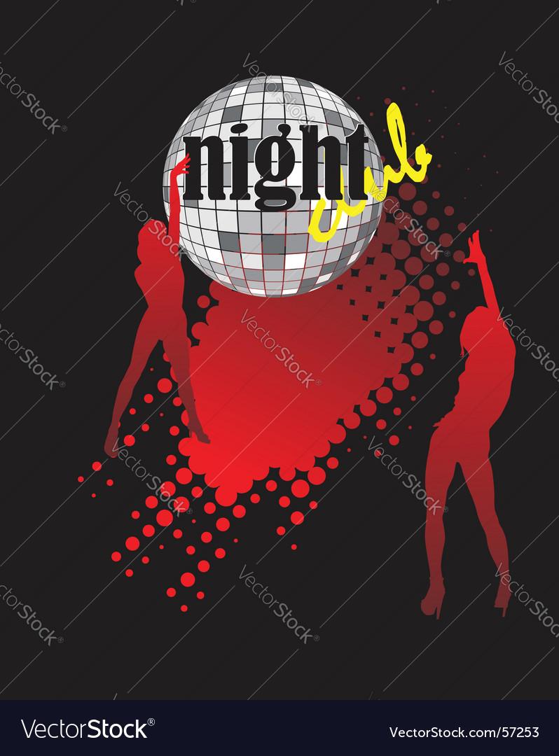 Nightclub poster vector image