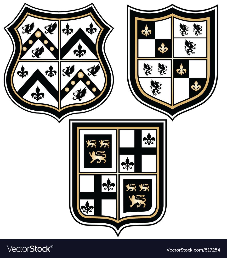 Heraldic royal emblem badge vector image