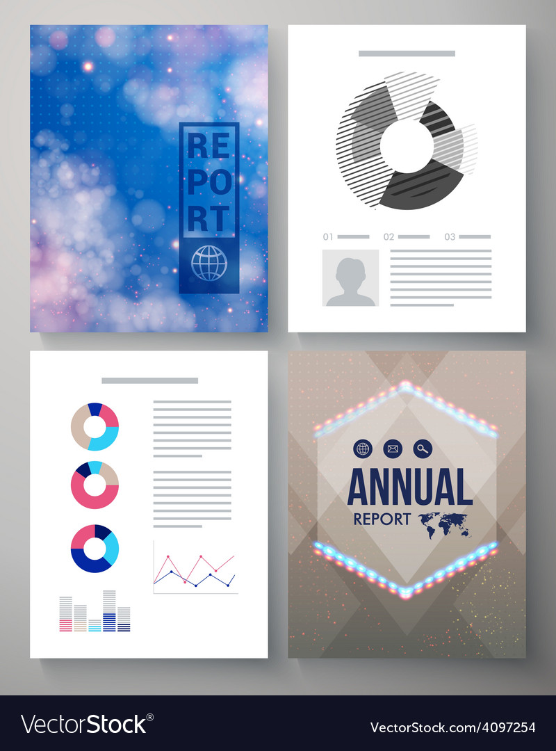 Corporate Annual report template Royalty Free Vector Image