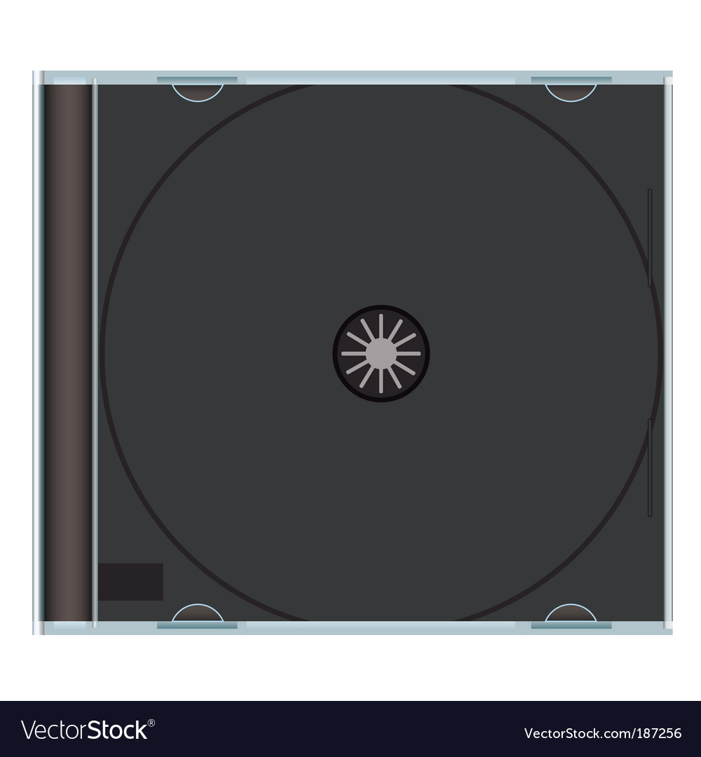 Blank cd case black vector image