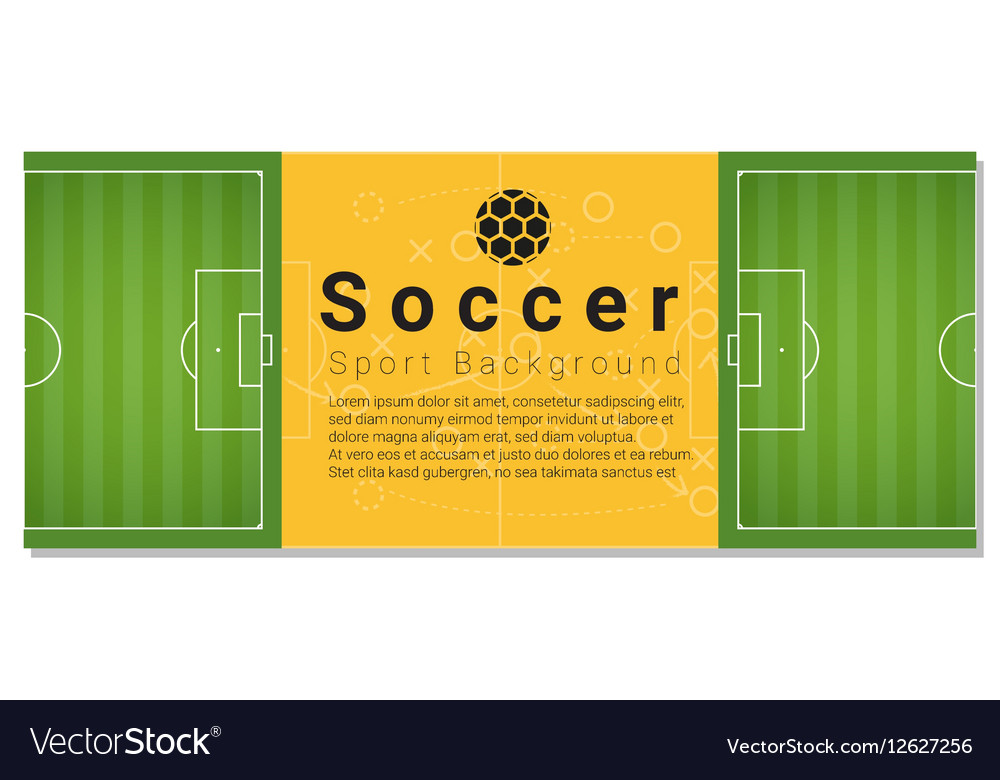 Football field graphic background 4 vector image