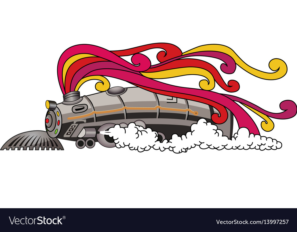 The angry train vector image