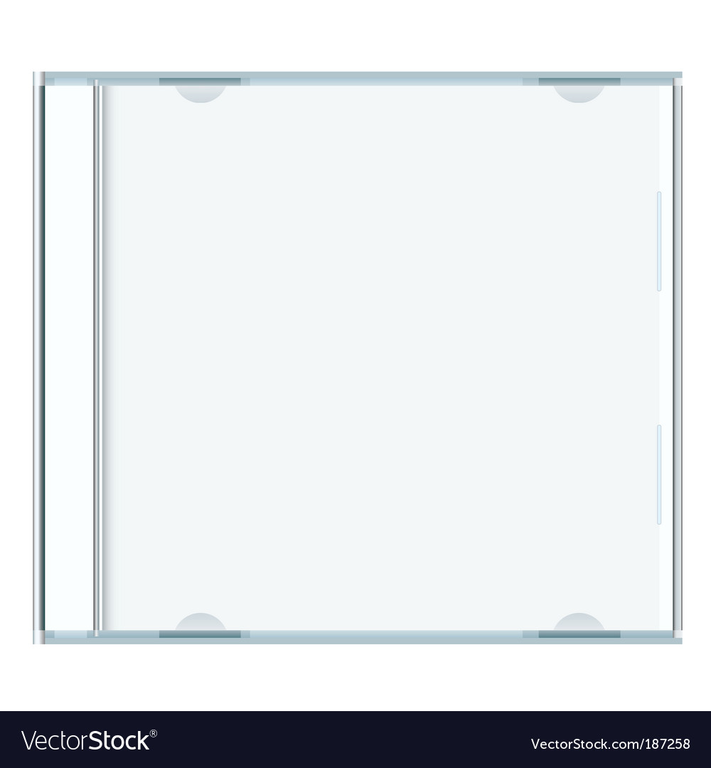 Blank cd case vector image