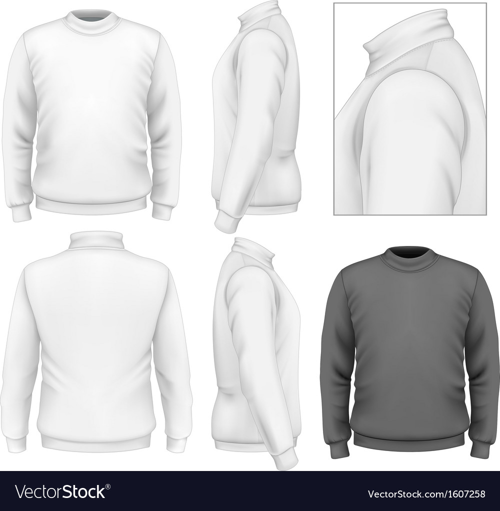 mens sweater design template royalty free vector image. Black Bedroom Furniture Sets. Home Design Ideas