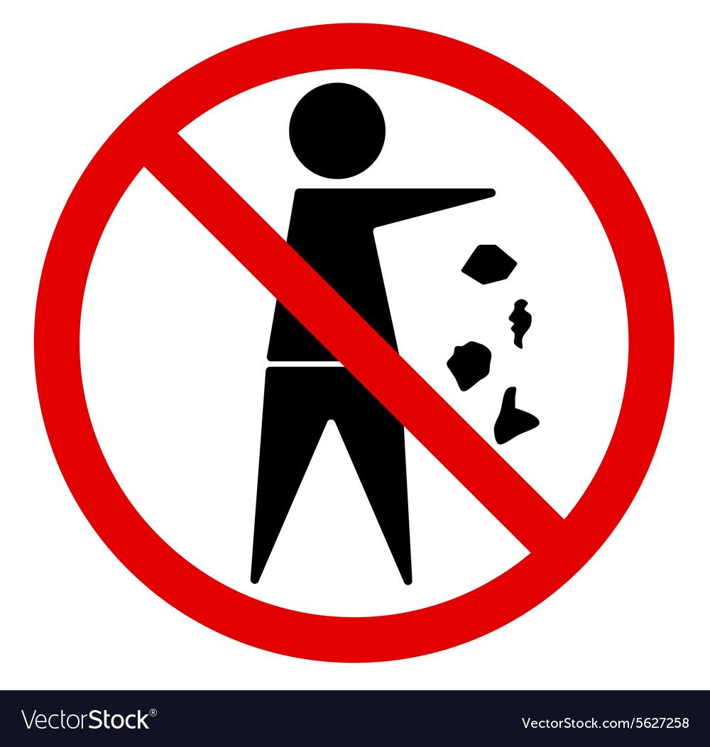 No littering royalty free vector image vectorstock no littering vector image buycottarizona
