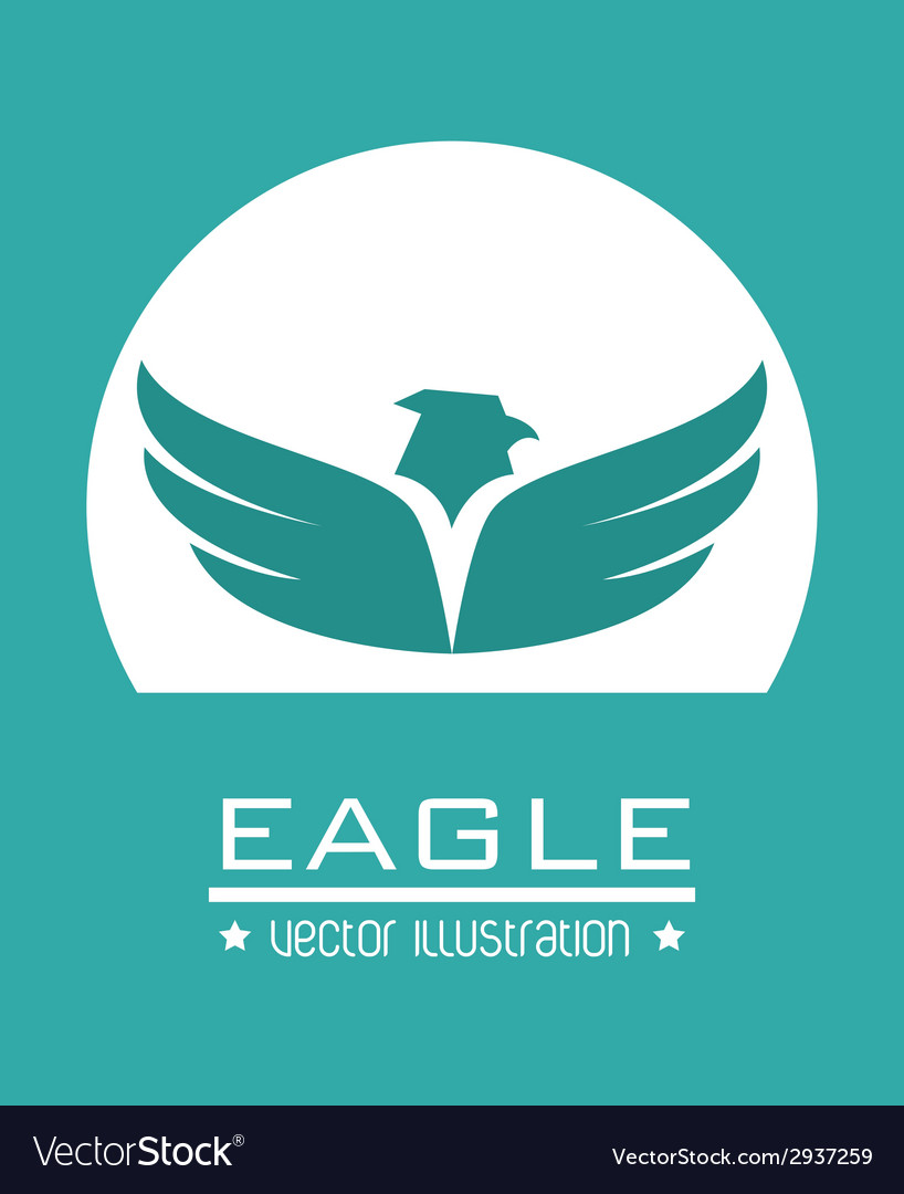 Eagle design vector image