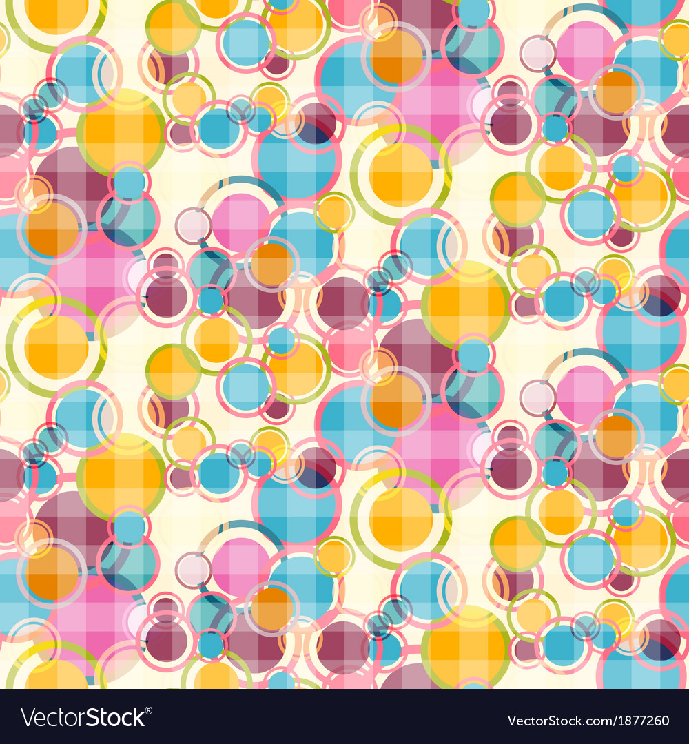 Abstract Retro Circles Seamless Background vector image