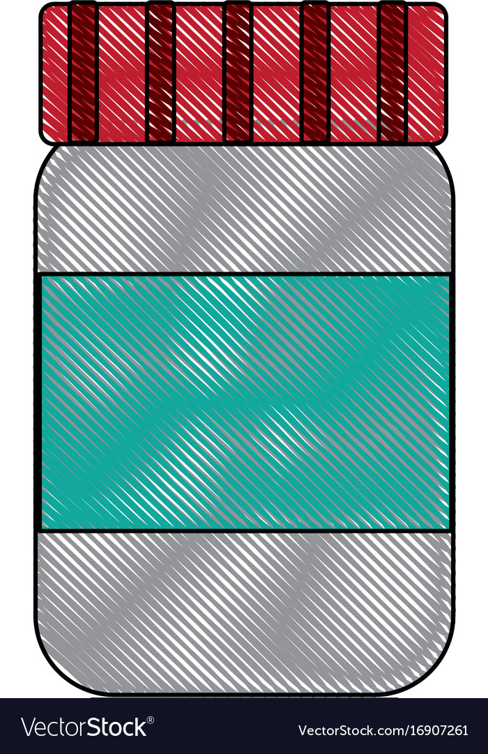 Bottle glass plastic cap container object image vector image